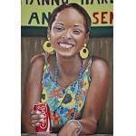 Kubanerin mit Coke