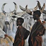 Büffelherde in Afrika