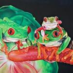Froschfamilie